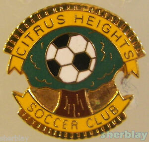 Vintage-Soccer-Ball-Sports-Citrus-Heights-Soccer-Club-80-039-s-Hat-Pin-Badge-Pinback
