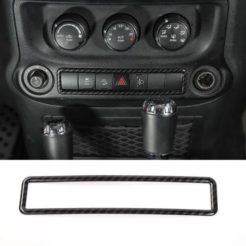 For 2011-2017 Jeep Wrangler Carbon Fiber Warning Light Switch Frame Cover Trim