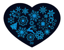 Xmas Love-Style Manicure Template Nail Art Printing Image Polish Stamp Plate S09