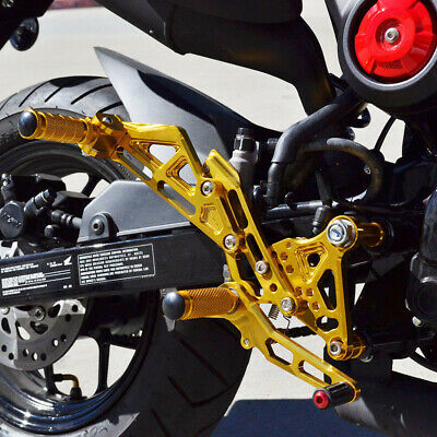 FXCNC Racing Billet Motorcycle Adjustable Rearsets Foot Pegs Rear Set for Grom MSX125 2017 2018