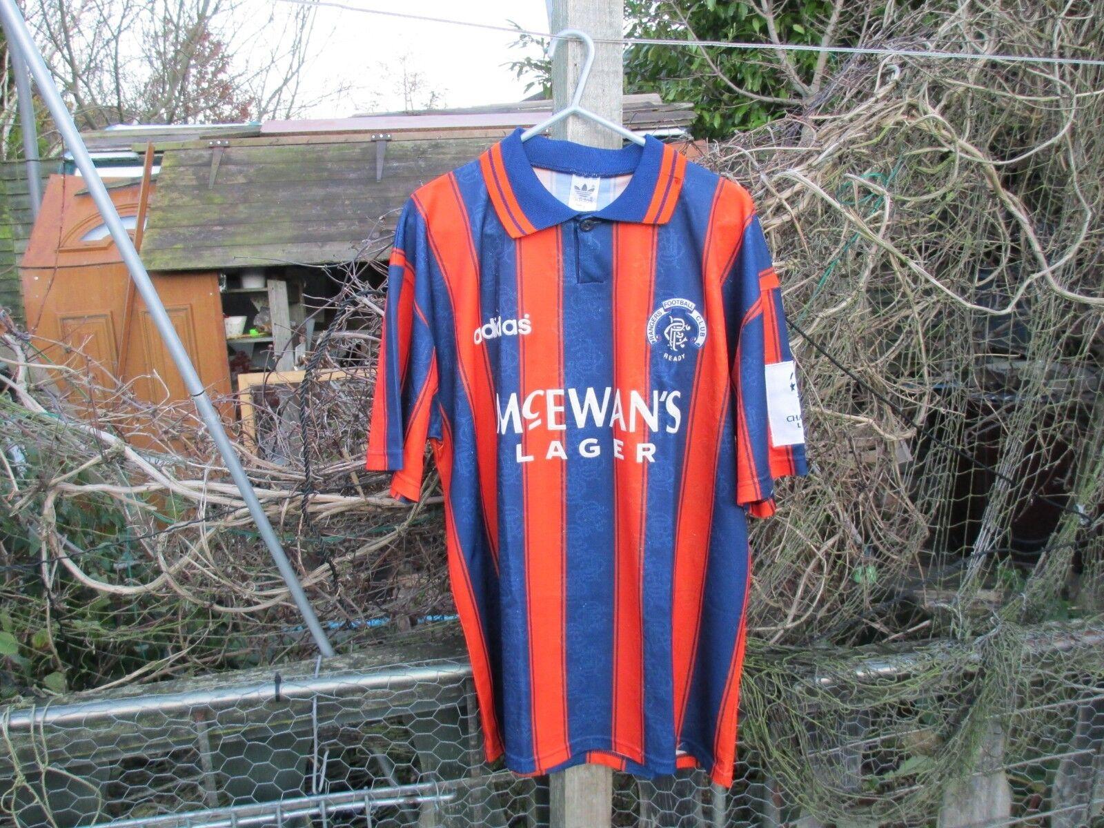 Adidas Rangers de la Liga de Campeones 1993-94 lejos (M) 93-94 Camiseta de fútbol  11 Steven