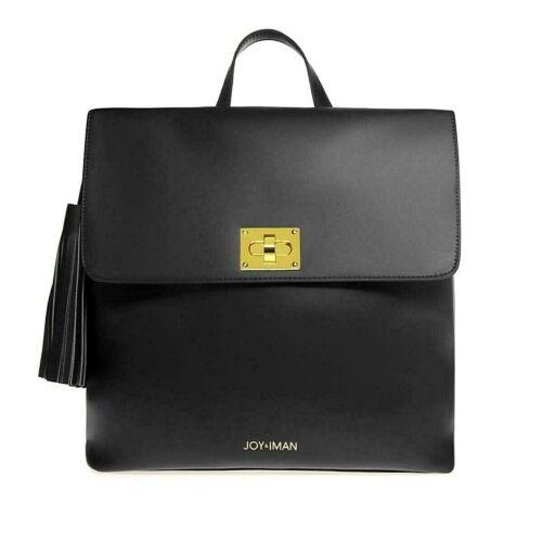 "NEW   Joy /& Iman  Tassel Chic  /""BLACK/""   Leather  Backpack  w// RFID    $139.00+"