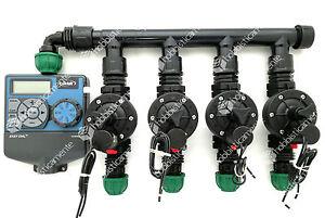 Dettagli Su Kit Irrigazione Programmatore Orbit 4 Zone Elettrovalvola Prato Giardino Baccara