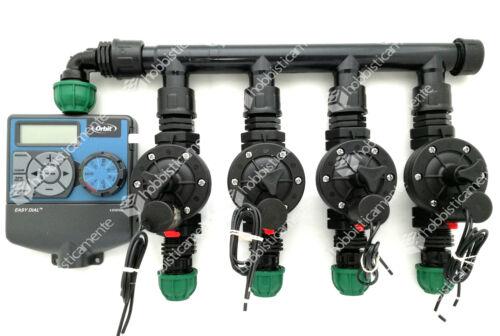 Kit Bewässerung Programmierer Orbit 4 Bereiche Magnetventil Rasen Garten Baccara