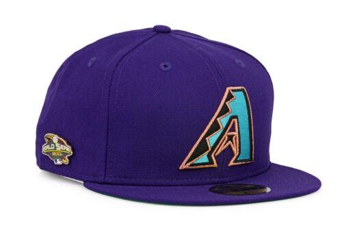 New Era Purple Los Arizona Diamondback 2001 World Series Pin Fitted hat