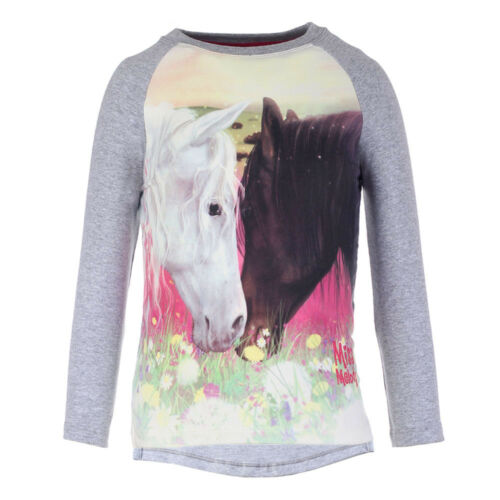 Neuf Miss Melody cheval Sweat-shirt Pull Shirt Taille 104 116 2 chevaux