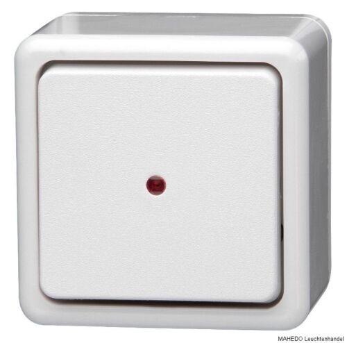 Aufputzschalter Wechselschalter Aufputz KOPP KONTROLL weiß beleuchtet Glimmlampe