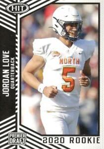2020 Sage Hit #12 Jordan Love Green Bay Packers Rookie Card