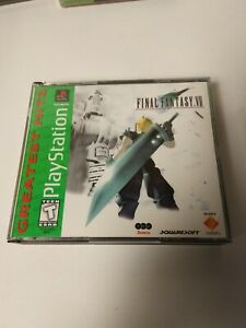Final Fantasy VII FF7 Greatest hits  PS1 - no manual cracked case