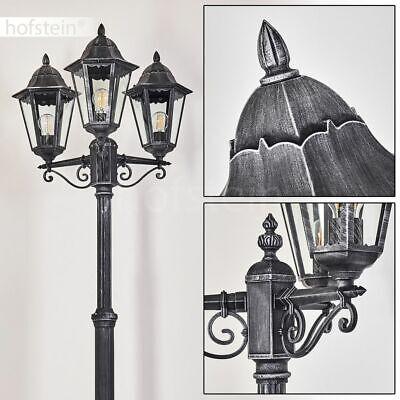 Garten Leuchten schwarz silber Kandelaber Laterne Wege Außen Steh Stand Lampen