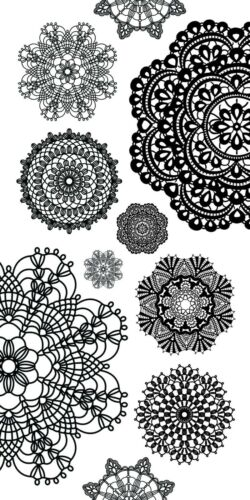 Doilies Stickers are WHITE Clear Stickers Kaisercraft K Style