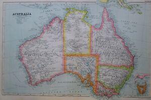 1919-MAP-AUSTRALIA-NEW-FOUND-LAND-VICTORIA-QUEENSLAND-TASMANIA