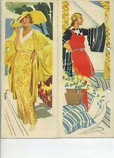 Reklame Agfa Kunstseiden 1936 Prospekt Mode Kleidung Damen Kostümbibliothek rar