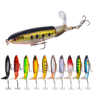 Whopper Plopper Topwater Floating Fishing Lures Rotating Tail for Bass- 10 Color