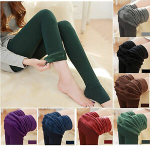 0715b1aff61b1b Women Thick Winter Warm Fleece Lined Slim Skinny Thermal Stretchy ...