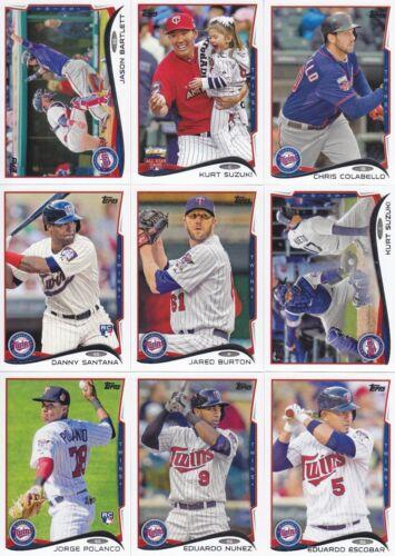 Suzuki 2014 Topps Update Minnesota Twins Team Set 11 Different Cards w//2 RCs