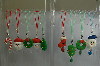 Polymer Clay Christmas Charms.Polymer Clay Christmas Holiday Lanyard Zipper Pull Cell