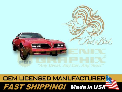 1978 1979 Pontiac Firebird Esprit Red Bird Decals /& Stripes Kit