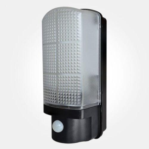 Led 120 ° cloison avec pir IP44 noir sécurité lumière envoi gratuit-bledpirbk