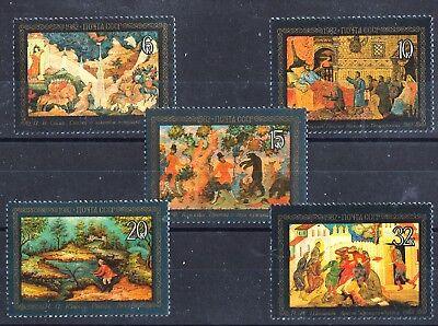 Motive Kunst & Kultur Lackkunst Gemälde 5 Mnh Briefmarken 1981 Russland #5063-7