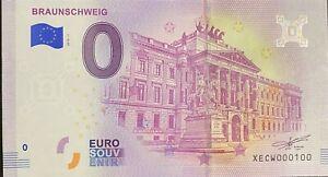 BILLET-0-EURO-BRAUNSCHWEIG-ALLEMAGNE-2018-NUMERO-100