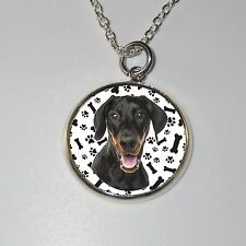 Dobermann-Hund Doberman dog  Halskette Necklace - D1