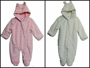 e29c323d0 Pram Suit - Layered Faux Fur Pram Suit snowsuit pink or white 0-3m ...