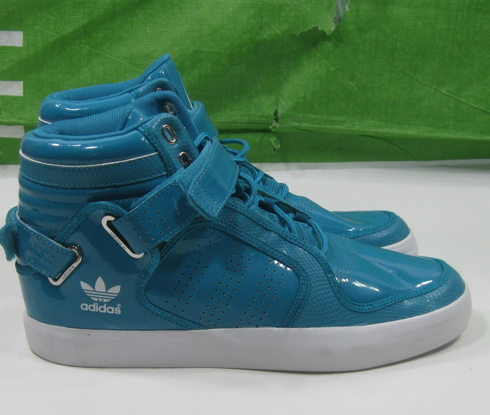 Adidas G21527 Mid Rise shoes Turquoise White Leather Men shoes Size  9