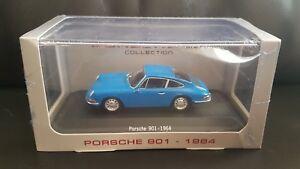 Porsche-901-1964-Azul-Coche-Modelo-1-43-escala-Atlas-Editions