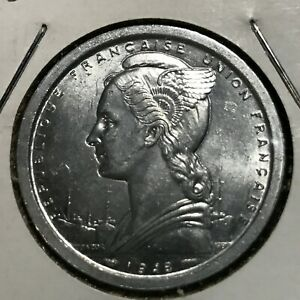 1948-CAMEROON-FRENCH-TWO-FRANCS-UNCIRCULATED-BEAUTY