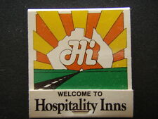 HI WELCOME TO HOSPITALITY INNS FREE TELEX BOOKINGS MELBOURNE 793614 MATCHBOOK