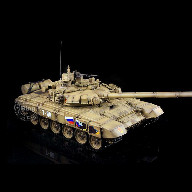 1 16 Scale Yellow 2.4G Henglong Russia T90 RC RTR Plastic Ver Tank Model 3938
