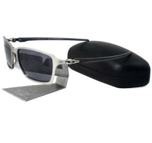 010baa8bd2b Oakley OO 6017-01 TINCAN CARBON Satin Chrome Grey Mens Rare ...