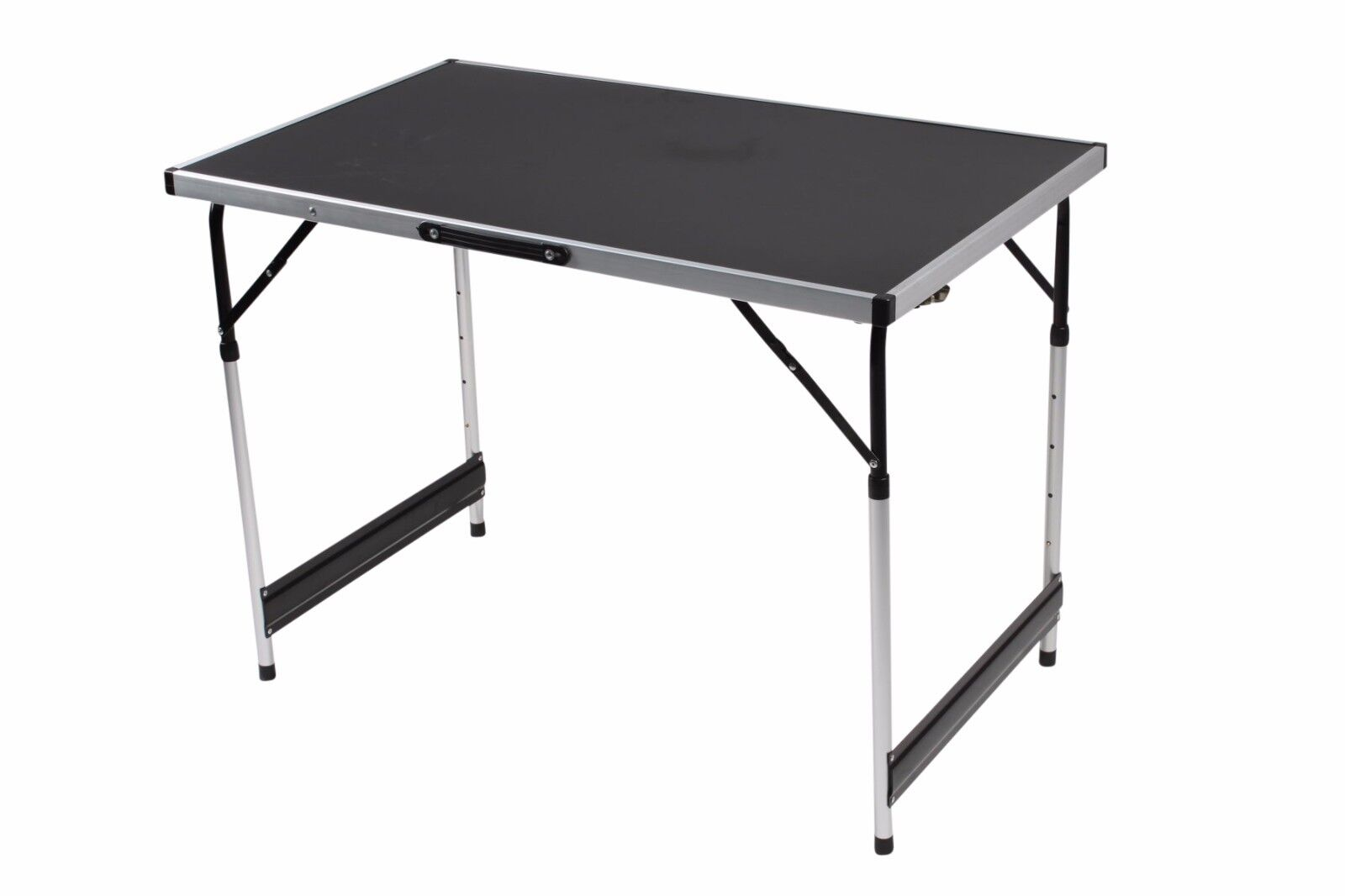 1m Table Metre Aluminium Lightweight Height Adjustable Folding Table 1m - Set of 3 Tables 484c3e
