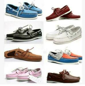 MEN-039-S-Docksides-Deck-Spinnaker-Top-Cote-Lacets-Mocassin-en-Cuir-Veritable-Chaussures-Bateau
