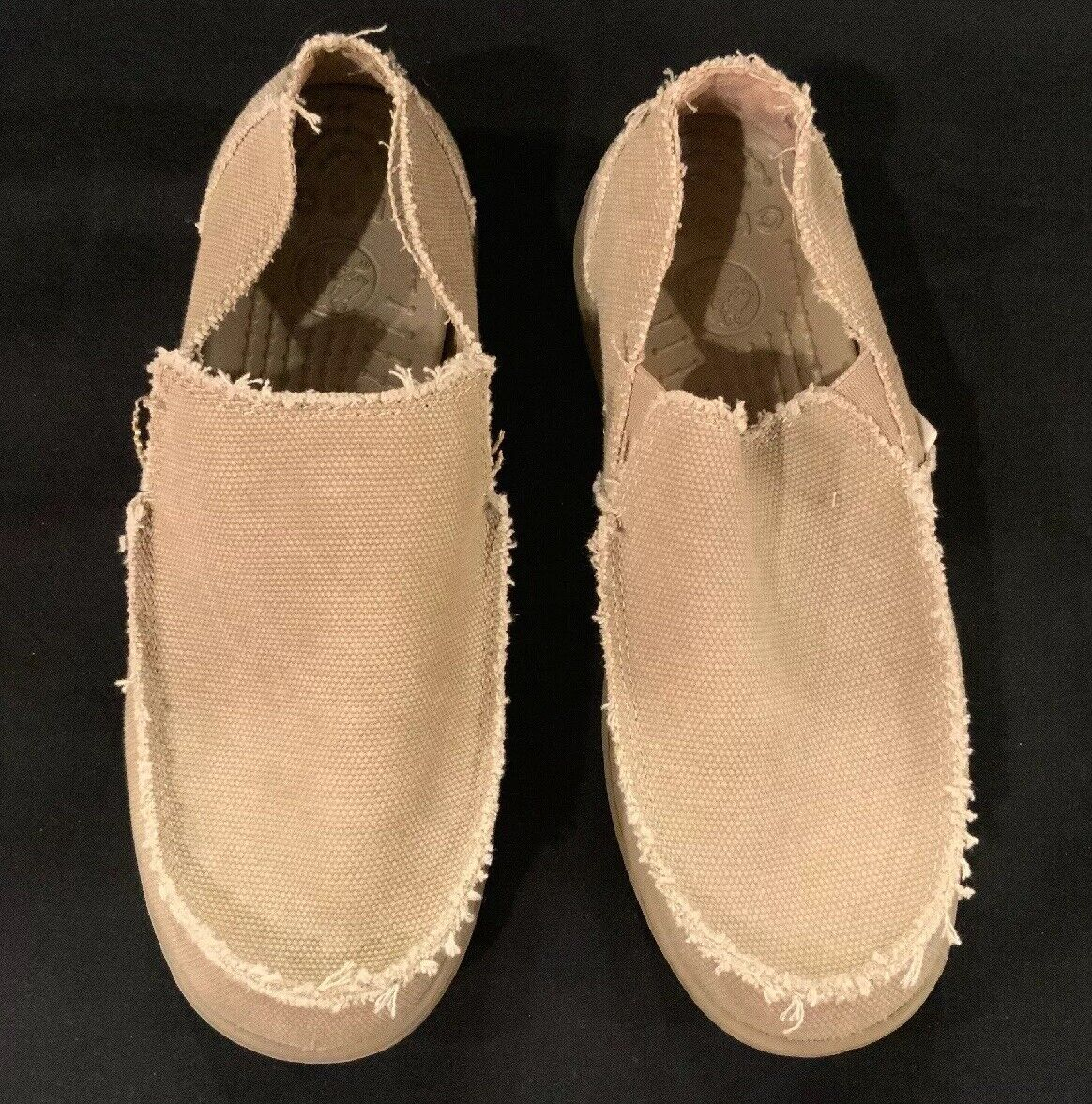 e146b45bd00a3 NEW Men's Size 7 CROCS Santa Cruz Khaki Light Brown Loafer SlipOn Casual  shoes