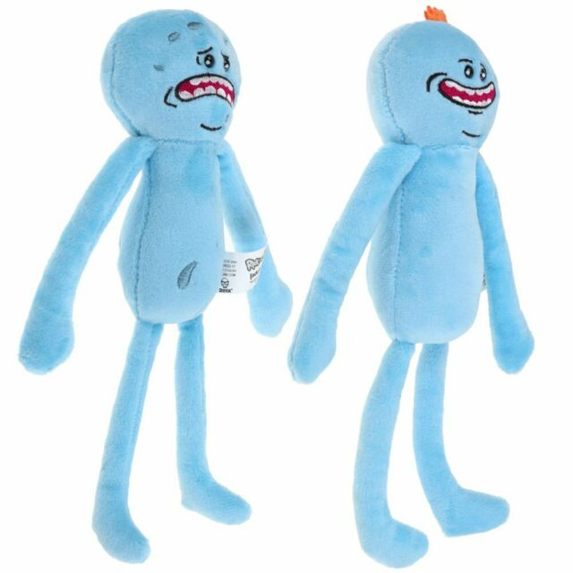 Hot Rick And Morty Mr Meeseeks Happy /& Sad Face Stuffed Plush Doll Soft Toy gift