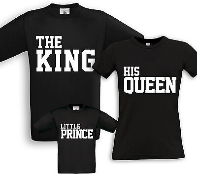 Gelernt The King + His Queen + Prince - Familien Partner Shirts - Geburtstag Taufe Sohn