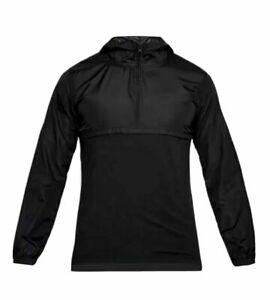 NWT $60 Under Armour Mens 1/4 Zip Hoodie Wind Jacket Windbreaker 1311107- 001 L