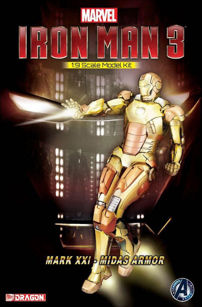 Iron Man Mark XXI Midas Armor 1 9 Plastic Model Kit 20 cm Dragon Models