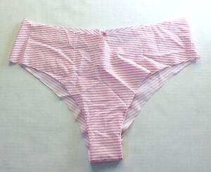 00ee72132801 Victoria's Secret No Show Seamless Cheeky Panty Size M Pink Stripe ...
