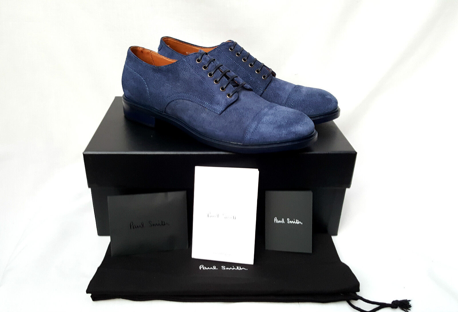 * Nuovo Suede * Paul Smith Blue Suede Nuovo Kirby Derby Scarpa () RRP 93c4ec