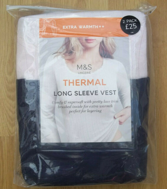 Marks /& Spencer ladies 2 pack thermal long sleeve tops size 22