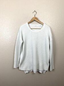 Athleta-Womens-Large-L-Merino-Wool-Blend-Knit-Sweater-Creamy-White