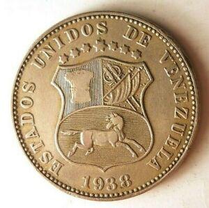 1938-VENEZUELA-12-1-2-CENTIMOS-Scarce-Coin-Latin-America-Bin-1