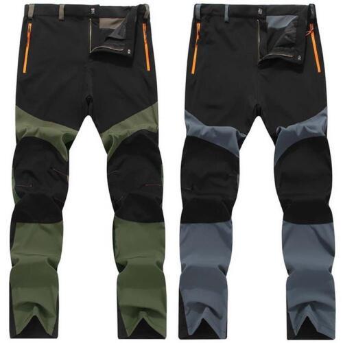 Men Outdoor Quick-drying Hiking Climbing Fishing Pants Fleece Windproof Trousers