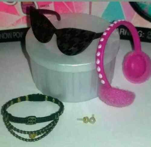 "LOL Surprise OMG Dollie 10/"" Doll Accessories Glasses Belt Pearl Earrings Earmuff"