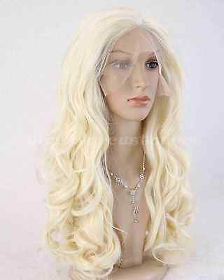 Blonde Lace Front Wig Wavy Long Women Lady Costume Hair Lace Front Wig