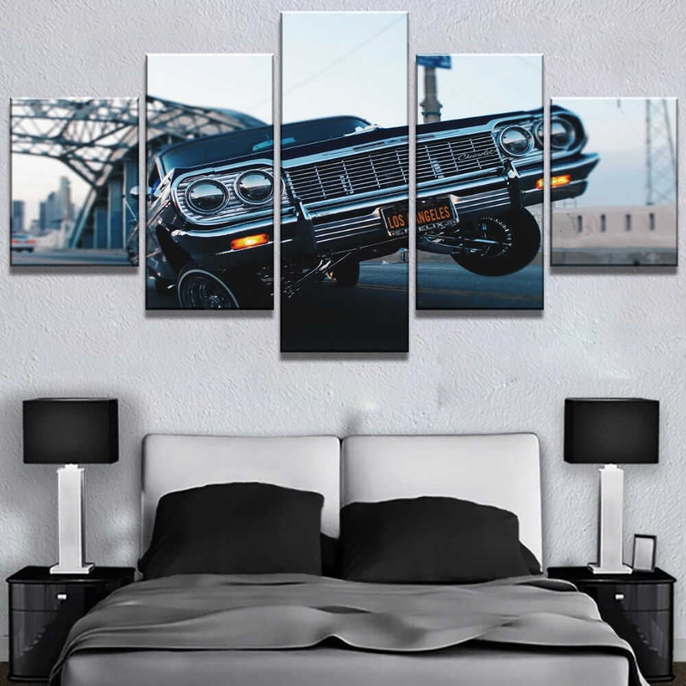 Classic Chevrolet Muscle Car Poster 5 Panel Canvas Print Wall Art Home Decor