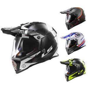 LS2-MX436-Pioneer-Casco-enduro-Adventure-casco-con-Visor